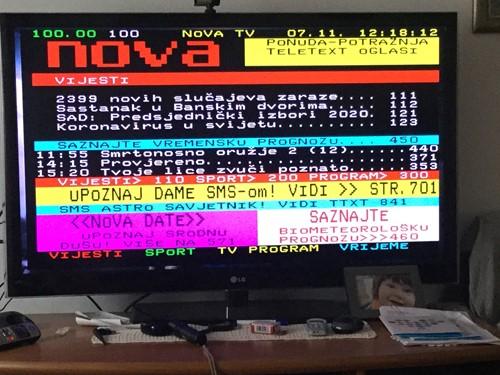 Teletekst oglasi tv nova Radio TV